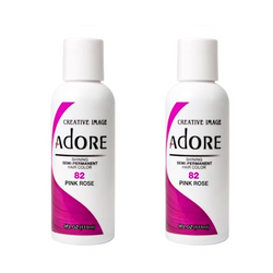 Adore  Semi-Permanent Hair Colour - Duo Pack - 82 Pink Rose -  (2x118mL)