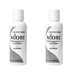 Adore  Semi-Permanent Hair Colour - Duo Pack - 150 Platinum -  (2x118mL)