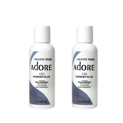 Adore  Semi-Permanent Hair Colour - Duo Pack - 198 Powder Blue -  (2x118mL)