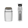 BaByliss PRO - Silver Duo Pack - SilverFX Skeleton Lithium Outliner Hair Trimmer/Foil FX02 Metal Double Foil Shaver - Silver