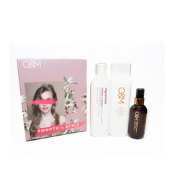 O&M - Smooth + Style Pack - Shampoo/Conditioner/Serum