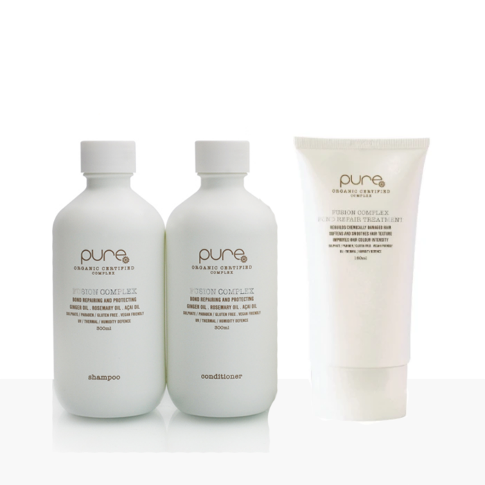 Pure by Juuce - Fusion Complex Bond Repair Treatment Kit - Shampoo/Conditioner/Leave In Treatment