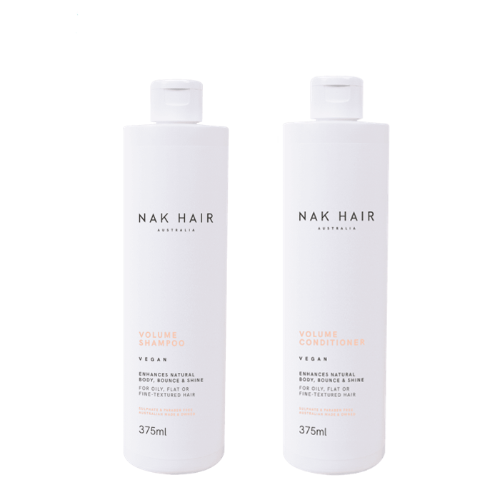 NAK Hair - Duo Pack - Volume Shampoo/Conditioner - (2x375mL)