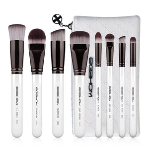EIGSHOW 8pcs Animal Hair Cosmetic Makeup Brush Set