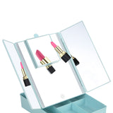 Facinate - Make up Storage Mirror with Light with Addtional Magnifiying Mirror