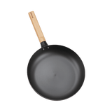 XIAOMI - Qcooker non-stick Smokeless pan uncoated real stainless cast iron frying pan flat-bottom raw iron pot gas