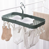 WUMING - Folding Clothes Hanger Towels Socks Bras Underwear Drying Rack