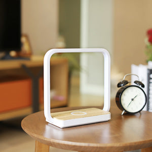 EZVALO Table Lamp LED Night Light 10W Qi Fast Wireless Charger Desk Night Lamp For Mobile Phone Charging Night Lights Pad Phone Stand