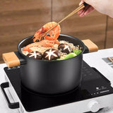 XIAOMI - Qcooker 3.75L Uncoated Fine Iron Soup Pot Stockpot Top Quality Nonstick Cooking Kitchen Saucepan for Gas Stove & Induction Cooker