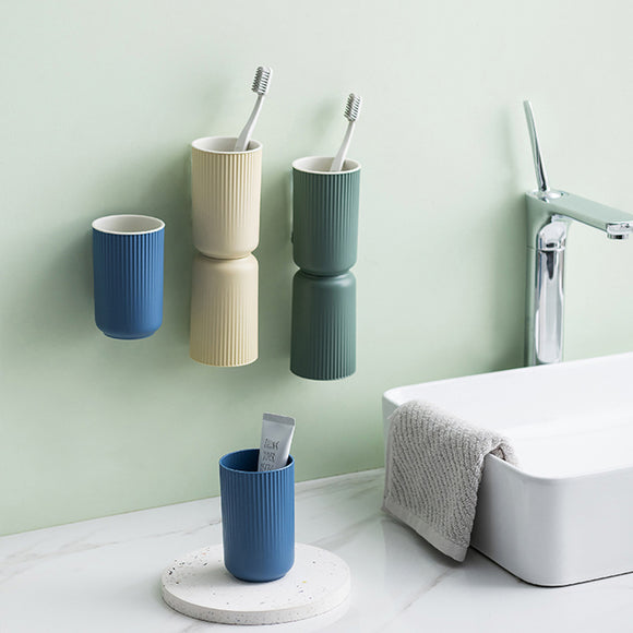 XIAOMI Nordic PP Toothbrush Holder And Cup Toothbrush Cup Holder Magnet with Single Mouth Wash Cup