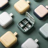 XIAOMI Simple Mini Travel Medicine Box Small size Portable Pill Box 4 Grids with Cover