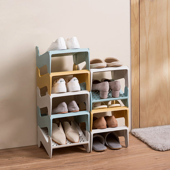 XIAOMI Shoes Organizer Creative Simple Assembly Shoes Rack Modern Free Installation Multi-Layer Storage Plastic Shoe Rack