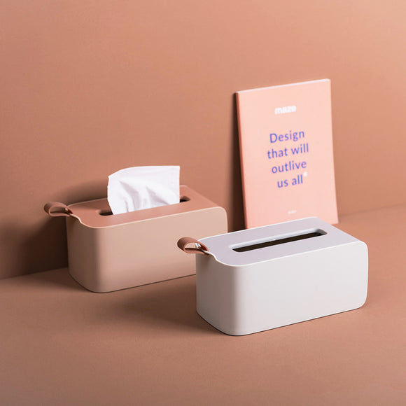 XIAOMI Simple Style Desktop Tissue Box Plastic Tissue Box Napkin Dispenser Paper Storage Box