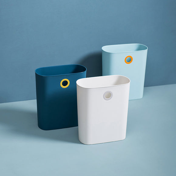 XIAOMI Slim Plastic Rectangular Trash Can Wastebasket Garbage Container Bin with Handles for Bathroom, Kitchen, Kids Room