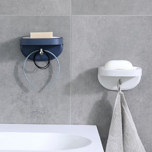 XIAOMI Wall-mounted Soap Holder Wall Suction  ABS Soap Rack with Hanger for Bathroom