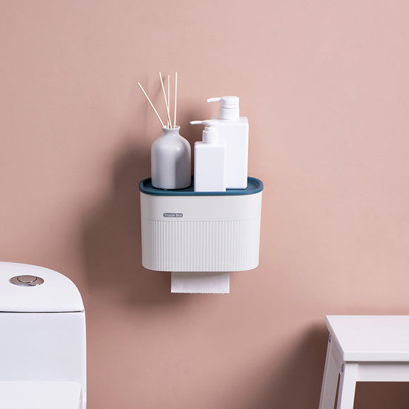 XIAOMI Bathroom Waterproof Tissue Box Plastic Bath Toilet Paper Holder Wall Mounted Paper Storage