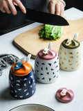 XIAOMI Household Kitchen Ceramics Seasoning Pot Spices Jar with Spoon