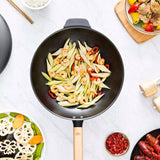 XIAOMI - Qcooker uncoated iron round bottom frying pan gas concave induction cooker