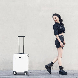 XIAOMI - CowaRobots Business Travel Suitcase Intelligent Sensing Automatic Following Carry Luggage 2.0