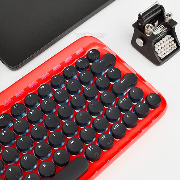 XIAOMI Lofree Retro Dot Design Bluetooth Wireless Mechanical Rechargeable Portable Wireless GamingKeyboard