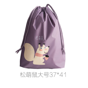 XIAOMI Casual Women Cotton Drawstring  Bag Eco Reusable Folding Grocery Cloth Underwear Pouch Case Travel Home Store