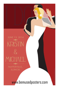 Custom Wedding Poster - The Dance