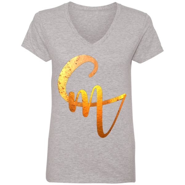 CM Logo Ladies' V-Neck T-Shirt