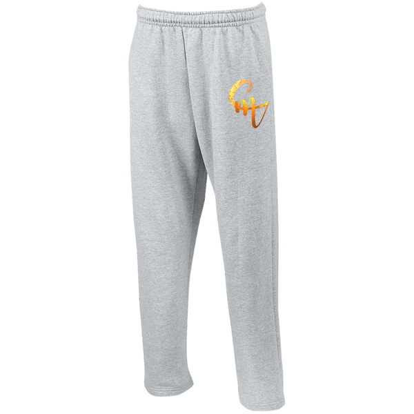 CM Logo Open Bottom Sweatpants with Pockets