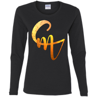 CM Logo Ladies' Cotton LS T-Shirt