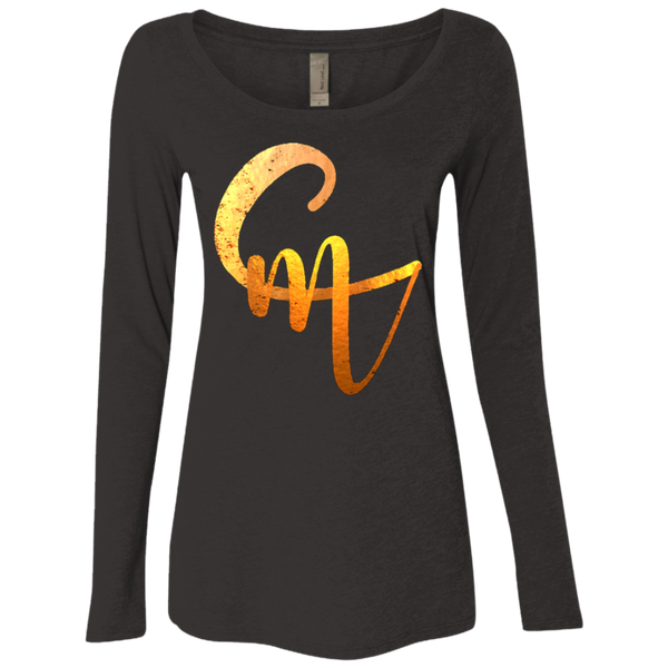 CM Logo Ladies' Triblend LS Scoop