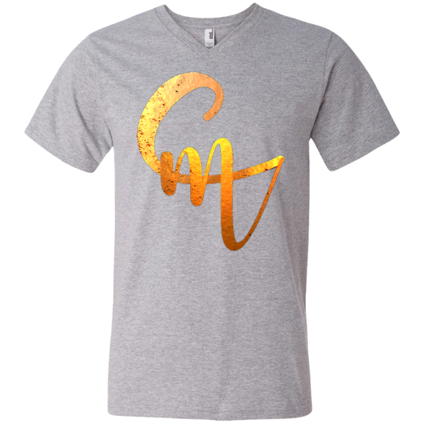 CM Logo Men's Printed V-Neck T-Shirt
