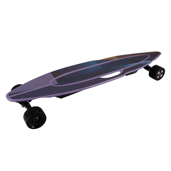 """Purple Waves"" eSkateboard by Moovi"