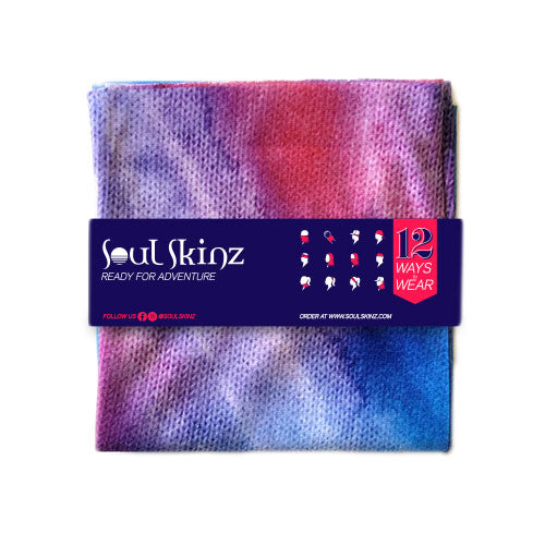 Tie Dye Traditional Neck Gaiter Folded