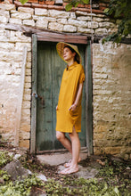 Load image into Gallery viewer, Oversize Mustard Summer Dress