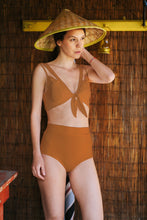 Load image into Gallery viewer, Burnt Orange Swimsuit Top Amivedra