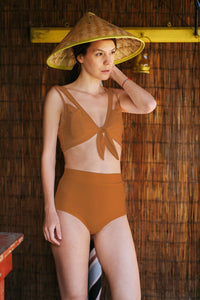 Burnt Orange Swimsuit Top Amivedra