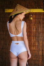 Load image into Gallery viewer, White Swimsuit Bottom Alinkton