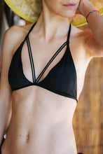 Load image into Gallery viewer, Black Swimsuit Top Vedra