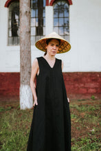 Load image into Gallery viewer, Linen Black Dress Elora