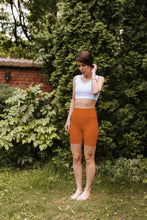 Load image into Gallery viewer, Burnt Orange Lycra Pants