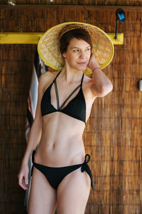 Black Swimsuit Top Vedra