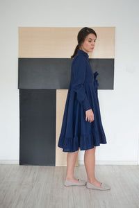 Flared Cotton Shirt Dress Kerra