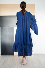 Load image into Gallery viewer, Bohemian Chic Style Loose Shirt Dress Carlie Blue