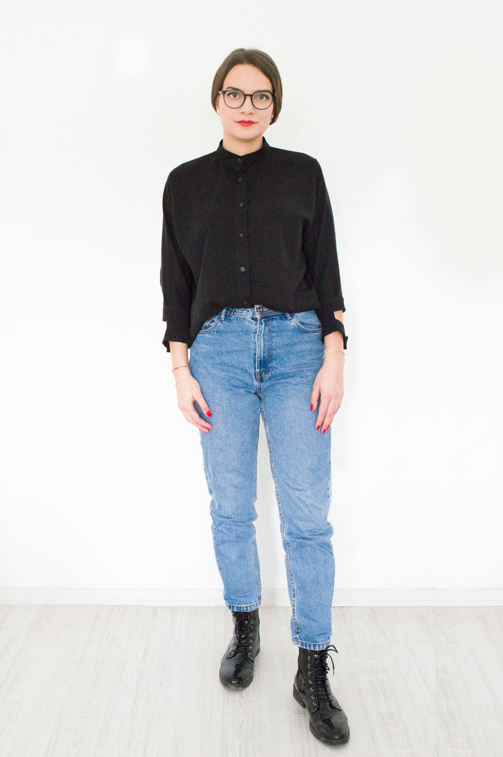 Black Loose Shirt Ada Black