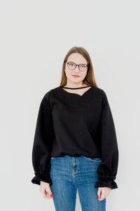 Black Slouchy Sweatshirt Rita Black