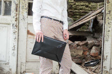 Load image into Gallery viewer, Black Envelope Clutch Bag