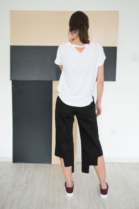 Plain White Boxy Tee Allegra