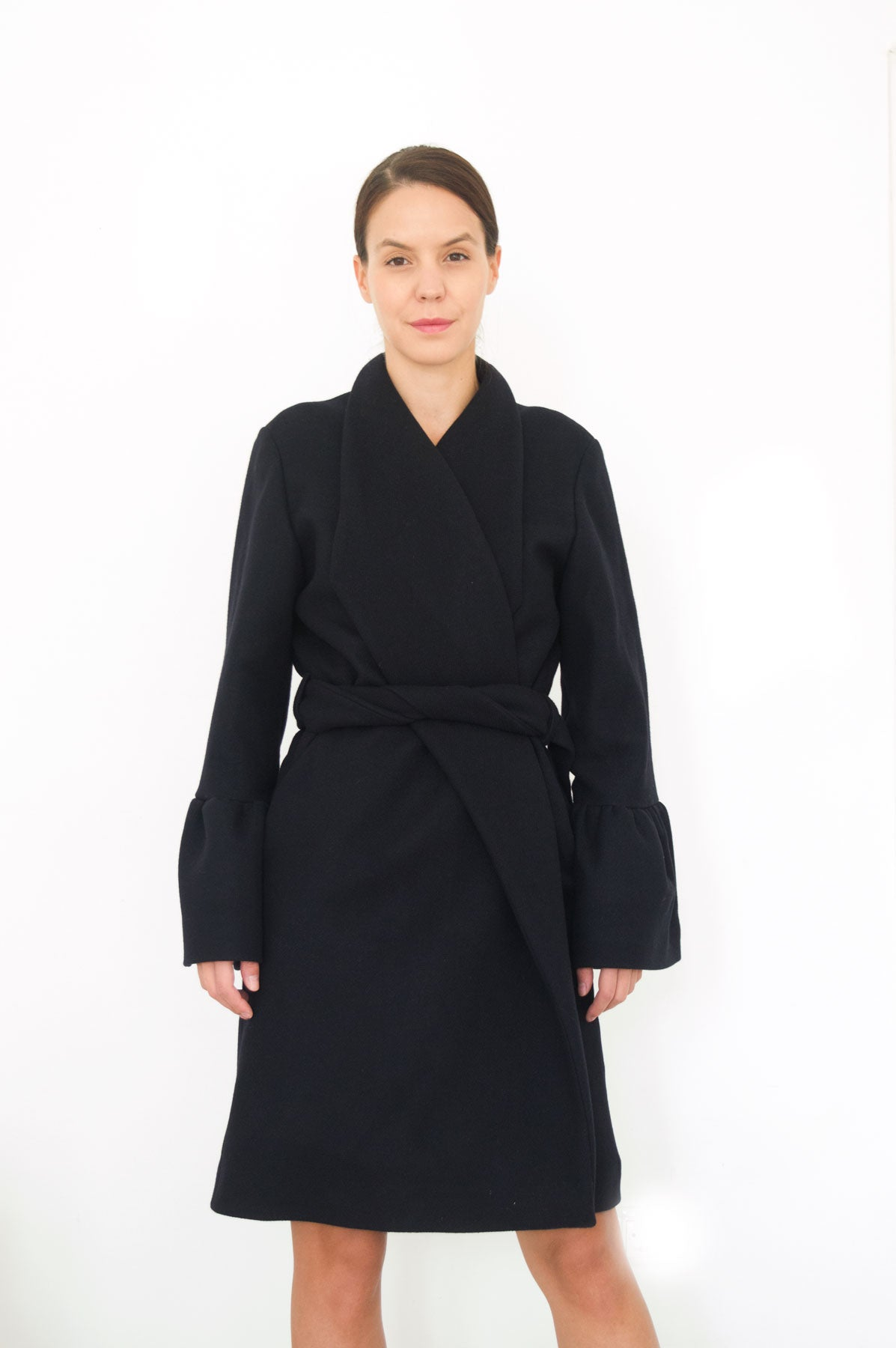 Black Wool Winter Coat