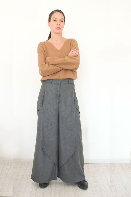 Gray Wool Pants Alena