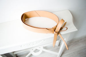 Wide Faux Leather Obi Belt Chaya
